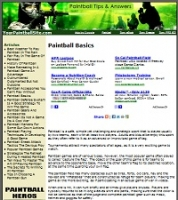 Paint Ball Site - PLR
