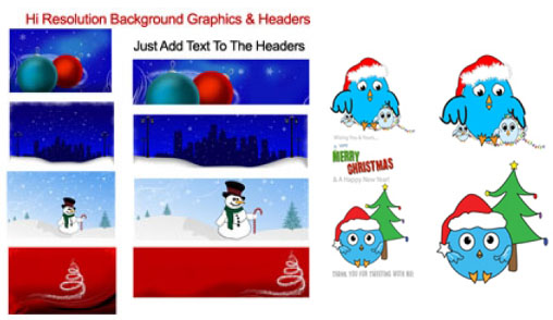 Pretty Christmas Graphics with Tweet