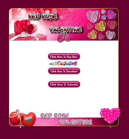 Red Rose Valentine HTML Template