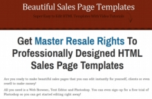 Sales Page Templates #1301