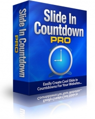 Slide In Countdown Pro Software