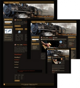 Steam Engine Themes - Brown (HTML, Blogger & Wordpress)