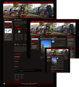 Steam Engine Themes - Red (HTML, Blogger & Wordpress)