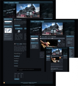 Steam Engine Themes - Blue (HTML, Blogger & Wordpress)Steam Engi