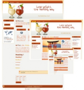 Weightloss HTML WP & Blogger Template 2