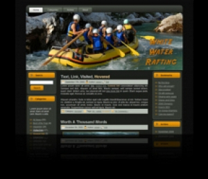 Water Rafting Template