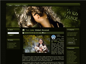 Wild Dance HTML WP & Blogger Templates
