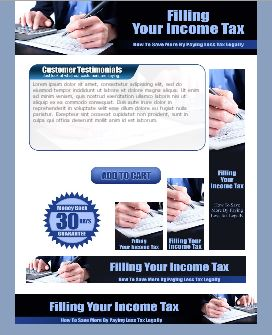 WP & HTML Template Income Tax