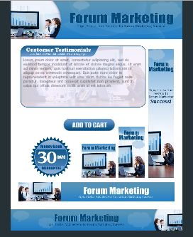 WP & HTML Template Forum Marketing
