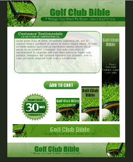 WP & HTML Template Golf Club Bible