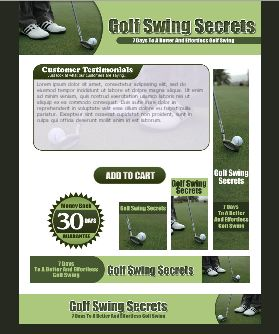WP & HTML Template Golf Swing Secrets
