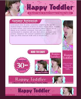 WP & HTML Template Happy Toddler