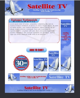 WP & HTML Template Satellite TV