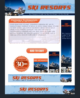 WP & HTML Template Ski Resorts