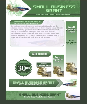 WP & HTML Template Small Business Grant