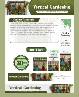 WP & HTML Template Vertical Gardening