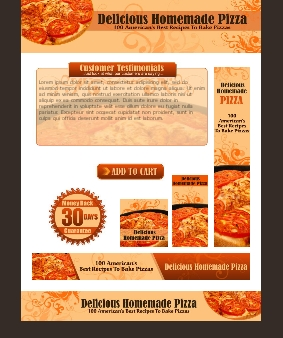 WP & HTML Template Delicious Homemade Pizza