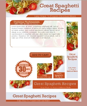 WP & HTML Template Great Spaghetti Recipes