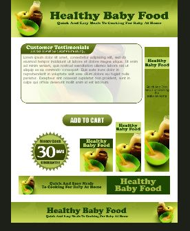 WP & HTML Template Healthy Baby Food
