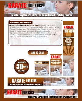 WP & HTML Template Karate For Kids