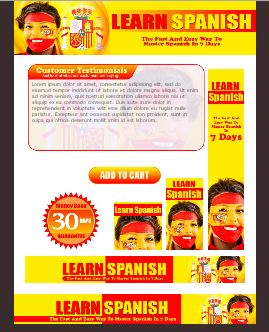 WP & HTML Template Learn Spanish
