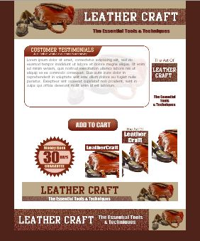WP & HTML Template Leather Craft