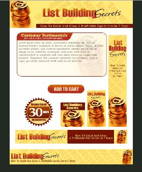 WP & HTML Template List Building Gold Coins