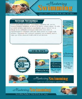 WP & HTML Template Mastering Swimming