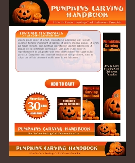 WP & HTML Template Pumpkin Carving