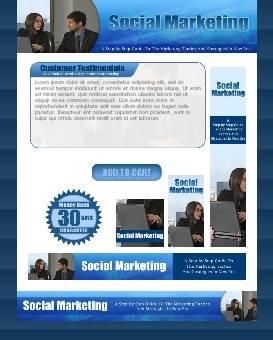 WP & HTML Template Social Marketing