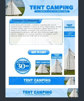 WP & HTML Template Tent Camping