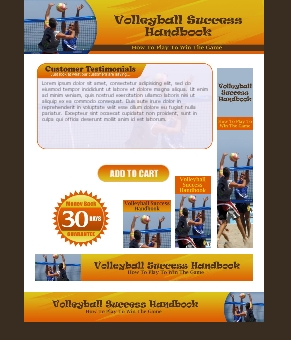 WP & HTML Template Volleyball Success
